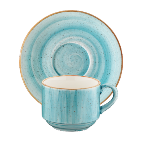 Aqua Gourmet Çay Fincan ve Tabağı